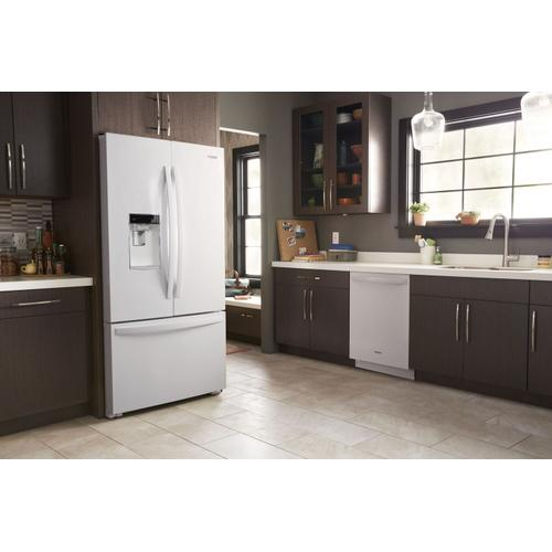 Whirlpool - Stainless Steel Tub Dishwasher with Third Level Rack White