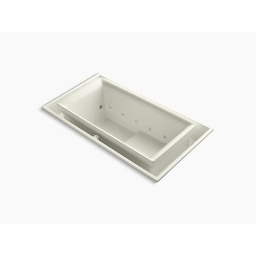 "Biscuit 75"" X 41"" Drop-in Effervescence Bath With Chromatherapy and Left-hand Drain"