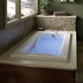 Green Tea 72x42 inch EcoSilent Whirlpool Tub - White