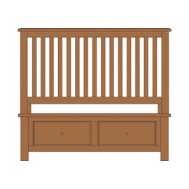 Queen Slat Bed with Footboard Storage