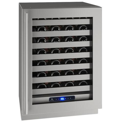 "U-Line - Hwc524 24"" Wine Refrigerator With Stainless Frame Finish and Left-hand Hinge Door Swing (115 V/60 Hz Volts /60 Hz Hz)"