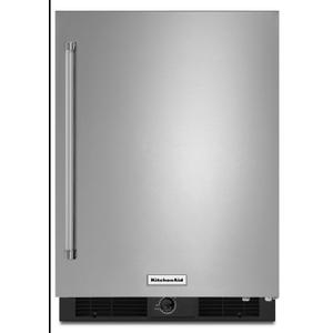 "KitchenAid24"" Undercounter Refrigerator with Stainless Steel Door Stainless Steel"