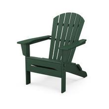 View Product - South Beach Folding Adirondack Chair in Green