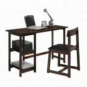 ACME Vance 2Pc Pack Desk & Chair - 92046 - Black PU & Espresso Product Image