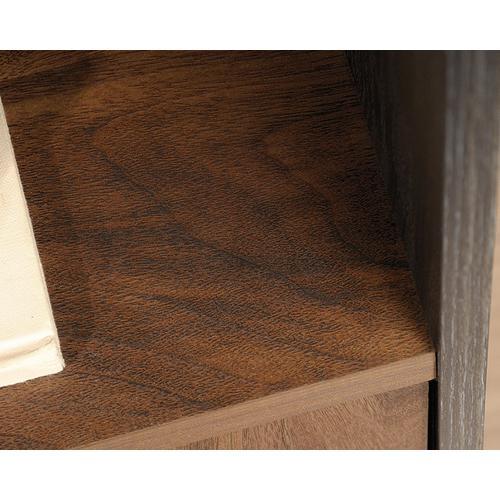 Industrial 3-Shelf Bookcase with Door