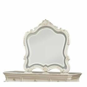 ACME Chantelle Mirror - 23544 - Pearl White