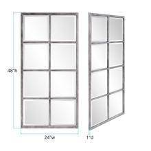 See Details - Atrium Silver Windowpane Mirror