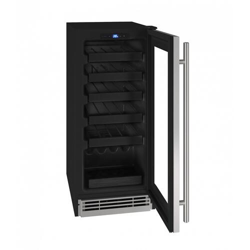 "Hwc115 15"" Wine Refrigerator With Stainless Frame Finish (115v/60 Hz Volts /60 Hz Hz)"