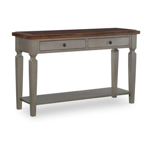 John Thomas Furniture - Sofa Table in Hickory & Stone