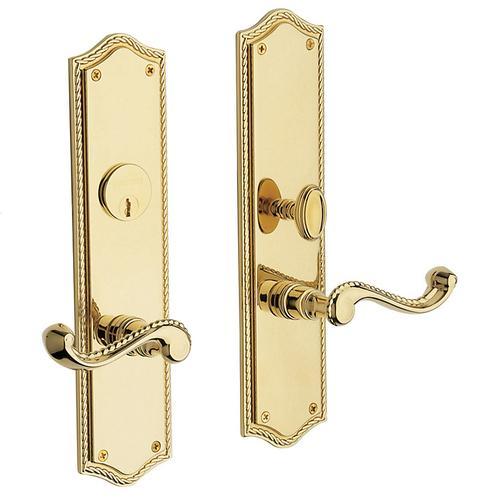 Polished Brass Bristol Escutcheon Entrance Set