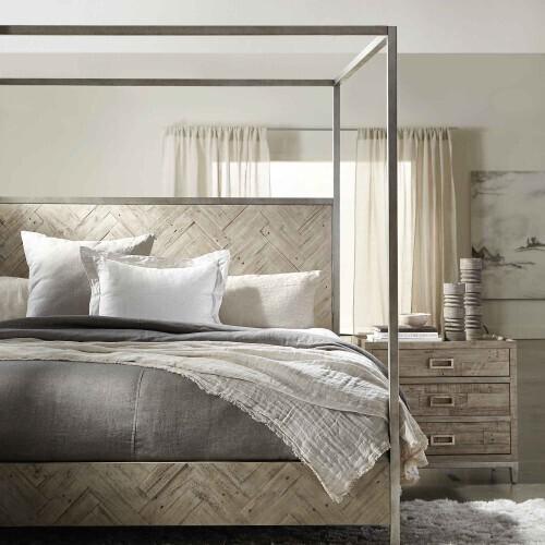 Bernhardt - King-Sized Milo Canopy Bed in Morel