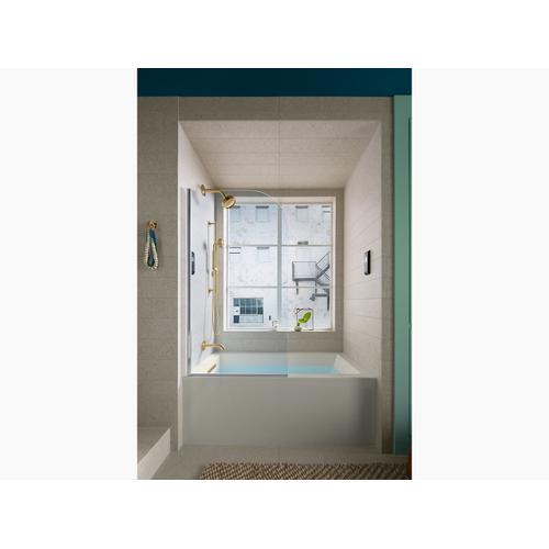 "Biscuit 60"" X 32"" Alcove Bath With Integral Apron, Integral Flange and Left-hand Drain"