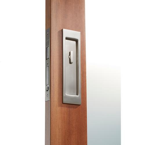 Baldwin - Satin Nickel PD005 Large Santa Monica Pocket Door