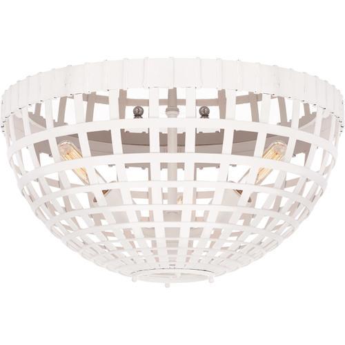 Visual Comfort - AERIN Mill 3 Light 15 inch Plaster White Flush Mount Ceiling Light, Small