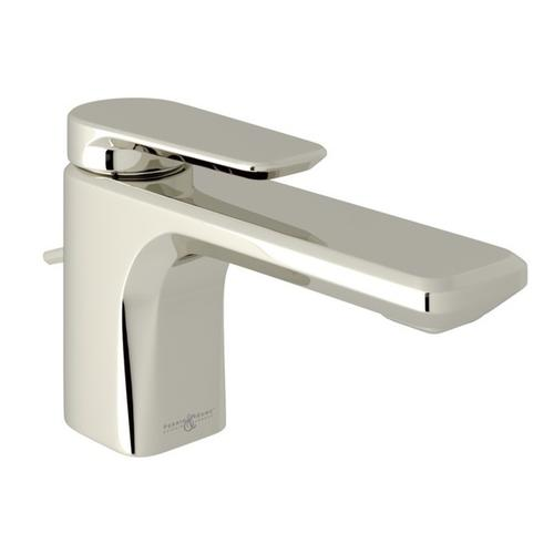 Polished Nickel Perrin & Rowe Hoxton Single Hole, Single Lever Lavatory Faucet with Hoxton Metal Lever