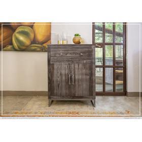 See Details - 1 Drawer, 2 Doors Server Charcoal Finish