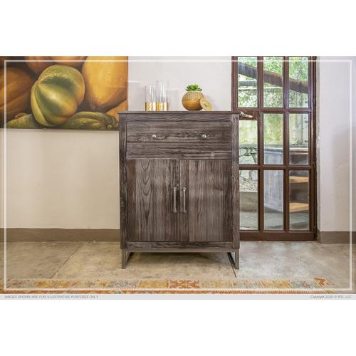 Gallery - 1 Drawer, 2 Doors Server Charcoal Finish