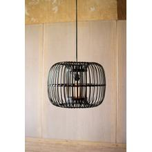 round black bamboo pendant lamp