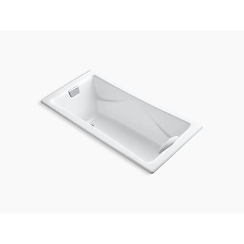 """White 72"""" X 36"""" Drop-in Bath With Reversible Drain"""