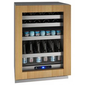 """U-LineHbd524 24"""" Dual-zone Beverage Center With Integrated Frame Finish and Field Reversible Door Swing (115 V/60 Hz Volts /60 Hz Hz)"""