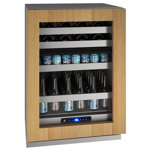"""U-Line - Hbd524 24"""" Dual-zone Beverage Center With Integrated Frame Finish and Field Reversible Door Swing (115 V/60 Hz Volts /60 Hz Hz)"""