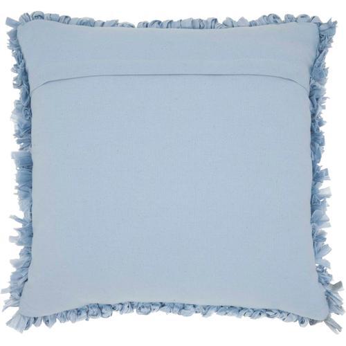 "Shag Dl658 Ocean 20"" X 20"" Throw Pillow"