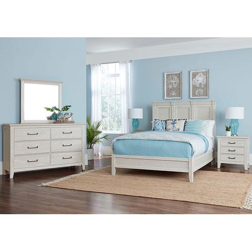 Vaughan-Bassett - Queen Passageways Mansion Bed w/ Low Profile Footboard - Oyster Grey Finish