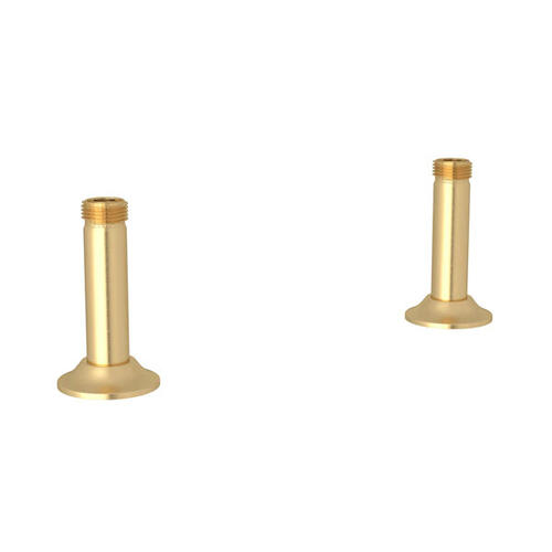Georgian Era Straight Deck Unions for Bridge Faucet - Satin English Gold