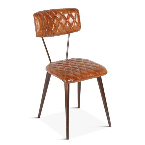 Product Image - Celeste Iron Dining Chair with Diamond Leather