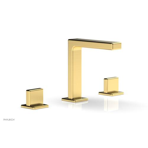 """MIX Widespread Faucet - Blade Handle 6-3/4"""" Height 290-01 - Satin Gold"""