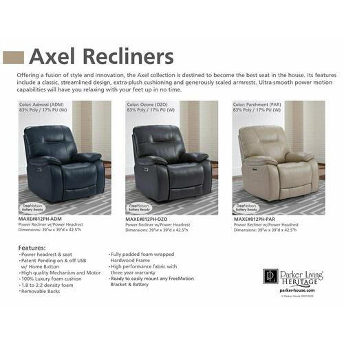 AXEL - OZONE Power Recliner