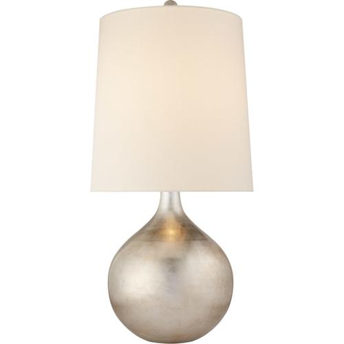 AERIN Warren 33 inch 150 watt Burnished Silver Leaf Table Lamp Portable Light