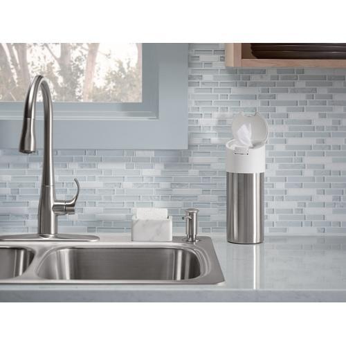 Vibrant Brushed Nickel Contemporary Design Soap/lotion Dispenser