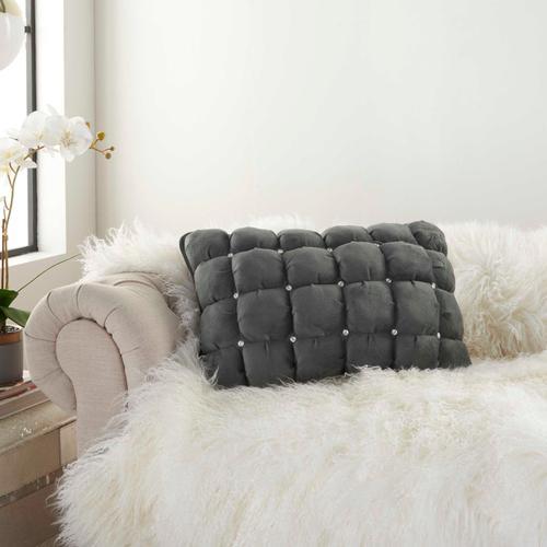 """Sofia Ys104 Dark Grey 14"""" X 20"""" Throw Pillow"""