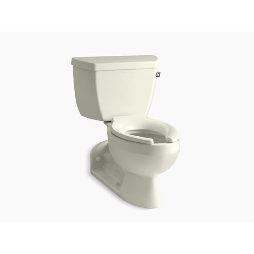 Biscuit Two-piece Elongated 1.6 Gpf Toilet With Pressure Lite Flushing Technology and Right-hand Trip Lever