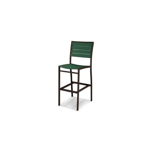 Polywood Furnishings - Eurou2122 Bar Side Chair in Textured Bronze / Green