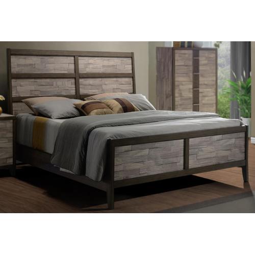 Henderson 2 Tone Melamine Sleigh King Bed