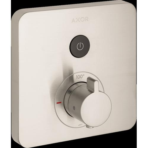 AXOR - Brushed Nickel Thermostatic Trim SoftCube for 1 Function