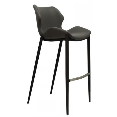 VIG Furniture - Modrest Ithaca - Industrial Grey Eco-Leather Bar Stool (Set of 2)