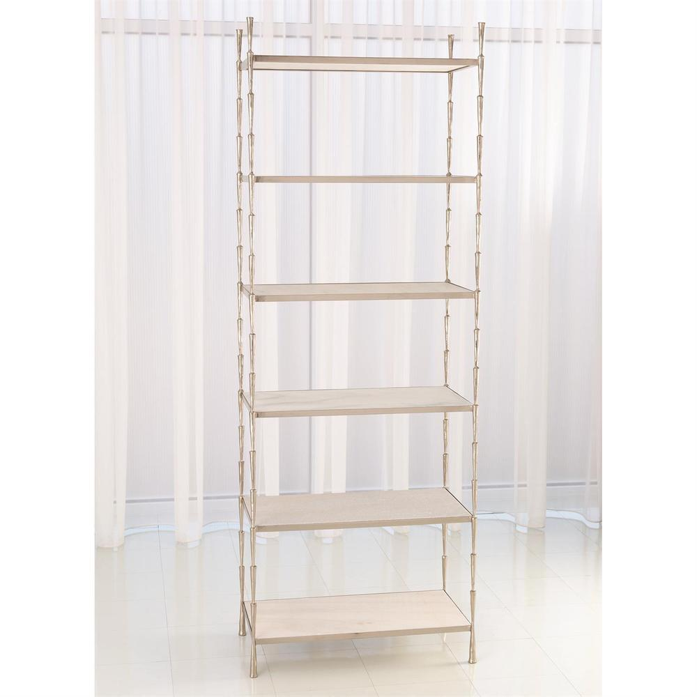 See Details - Spike Etagere-Antique Nickel w/White Marble