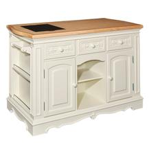 Pennfield White Kitchen Island