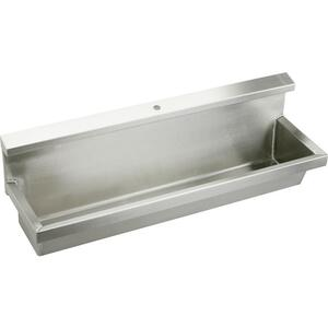 "Elkay Stainless Steel 60"" x 14"" x 8"", Wall Hung Multiple Station Urinal Kit Product Image"