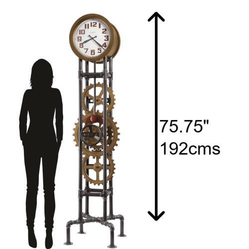 Howard Miller Cogwheel Metal Grandfather Clock 615118