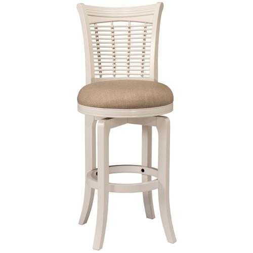 Bayberry Swivel Counter Stool - White
