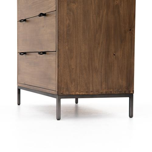Auburn Poplar Finish Trey 5 Drawer Dresser