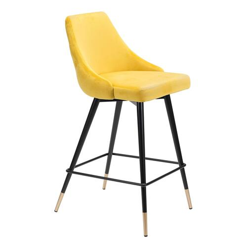 Zuo Modern - Piccolo Counter Chair Yellow