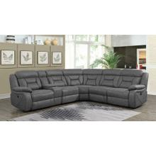 Camargue Grey Power Reclining Sectional - Add More Seats