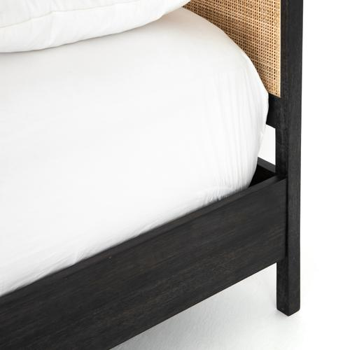 Twin Size Black Wash Finish Sydney Bed