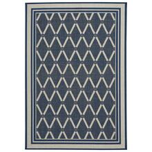 Finesse-Lattice Navy Machine Woven Rugs