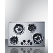 """See Details - 30"""" Wide 230v 4-burner Coil Cooktop"""